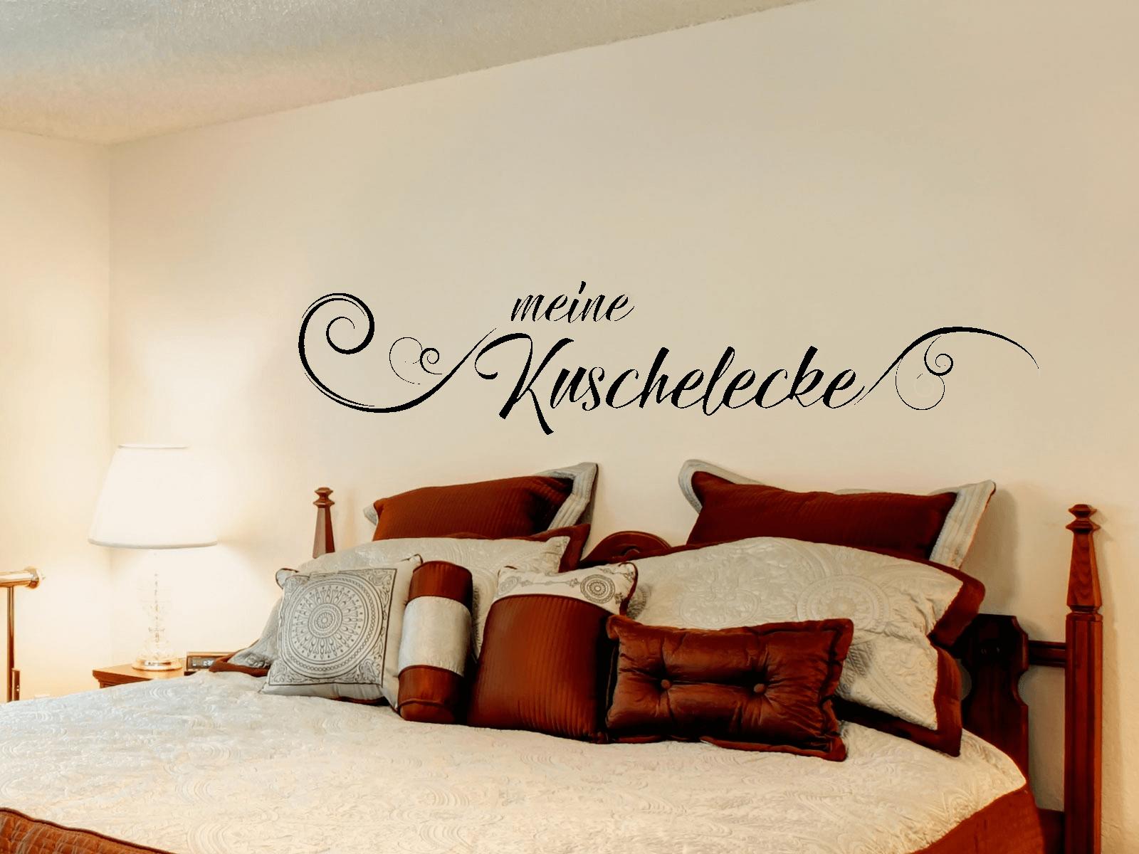 wandtattoo meine kuschelecke schriftzug wohnzimmer schlafzimmer 2 ebay. Black Bedroom Furniture Sets. Home Design Ideas