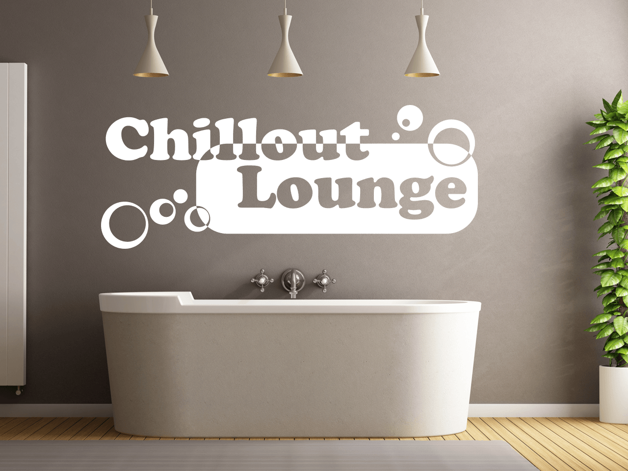 Wandtattoo Chillout Lounge Wohnzimmer Schlafzimmer Küche  eBay