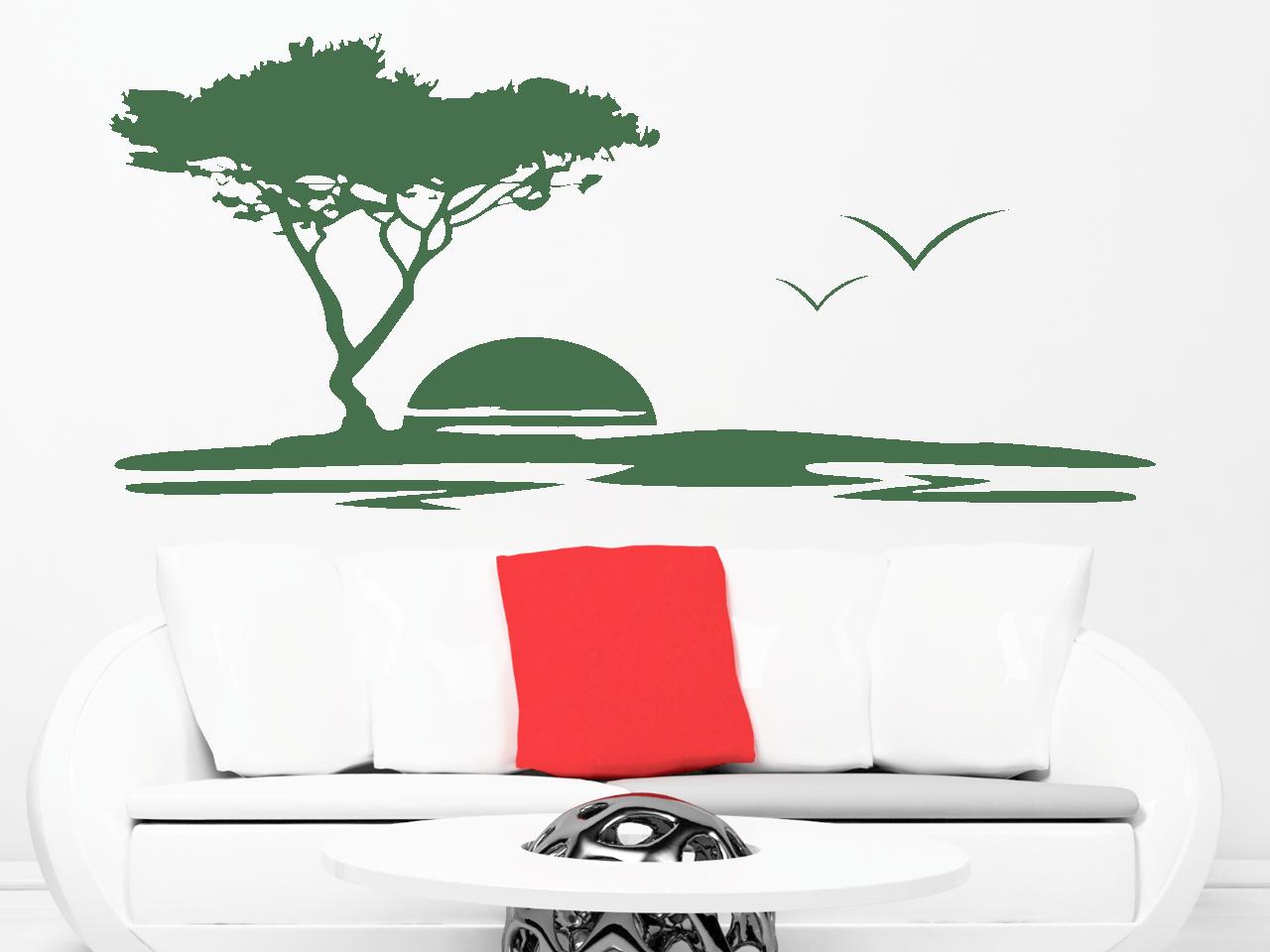 wandtattoo baum landschaft tocut werbetechnik wandtattoo. Black Bedroom Furniture Sets. Home Design Ideas