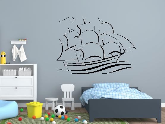wandtattoo schiff tocut werbetechnik wandtattoo beschriftung. Black Bedroom Furniture Sets. Home Design Ideas