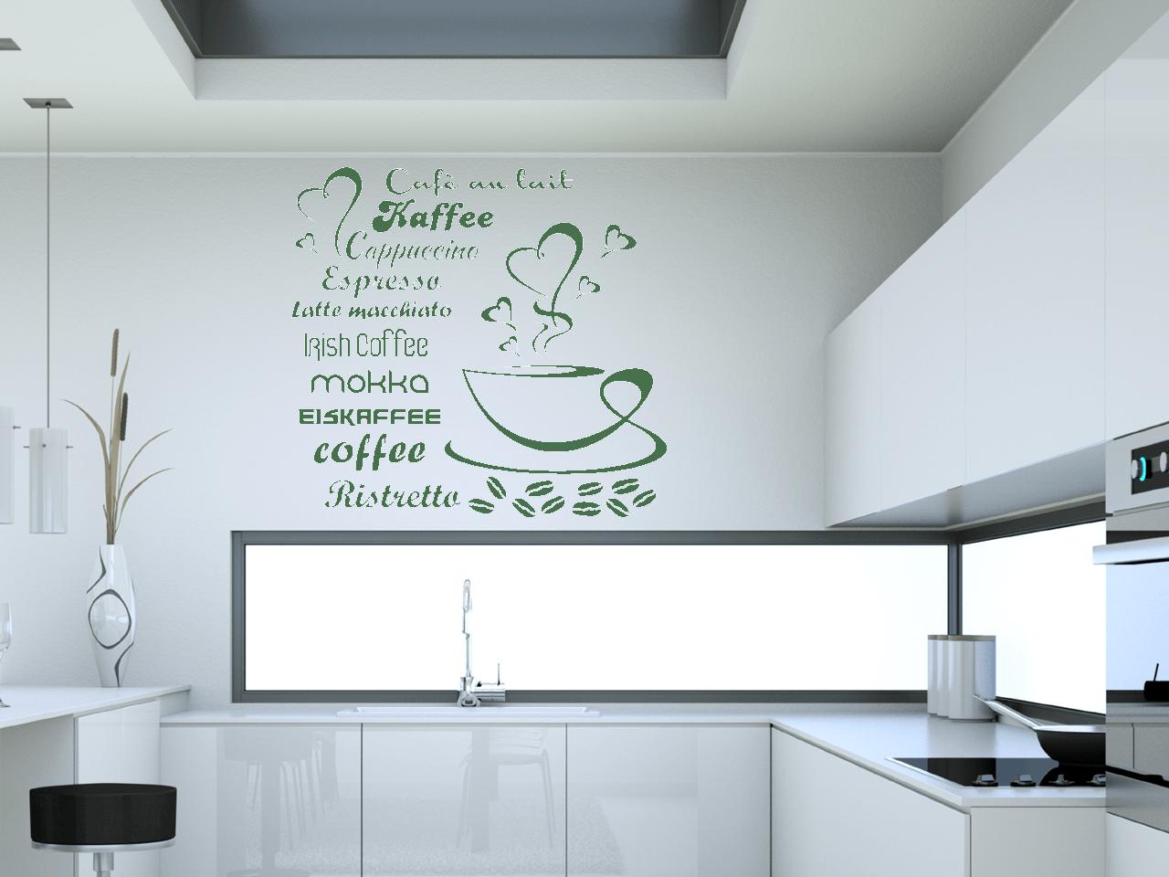 Eitelkeit Wandtattoo Mit Namen Galerie Von Kaffe-namen-herzen