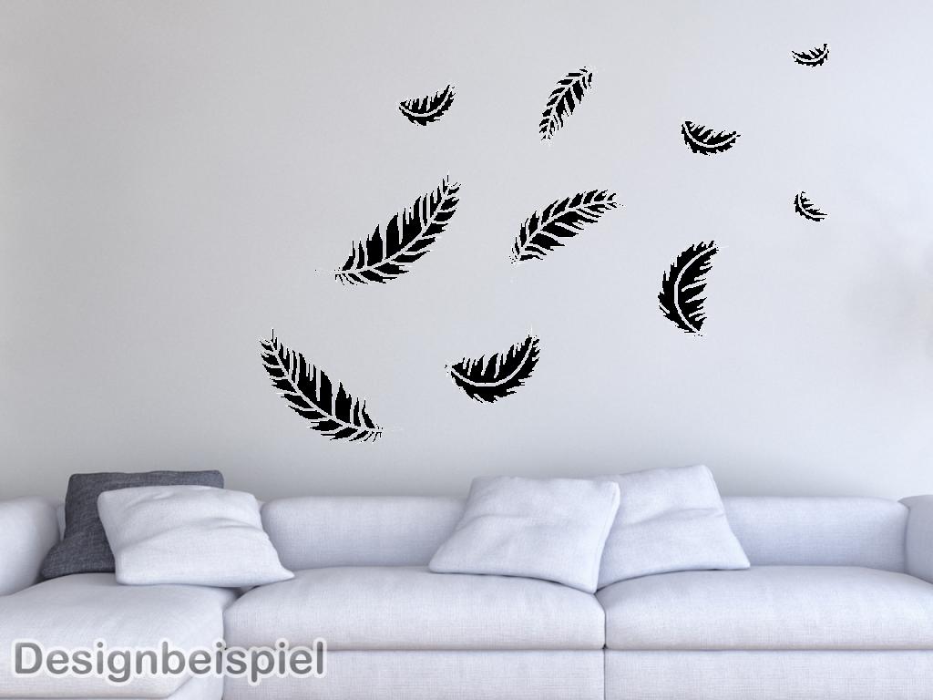 wandtattoo feder set xxl tocut werbetechnik wandtattoo. Black Bedroom Furniture Sets. Home Design Ideas
