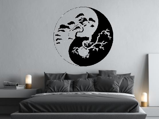 wandtattoo bonsai baum yin yang tocut werbetechnik wandtattoo beschriftung. Black Bedroom Furniture Sets. Home Design Ideas