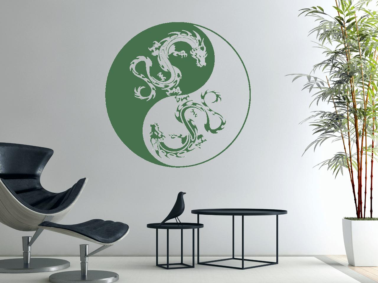 Amüsant Wandtattoo Drachen Das Beste Von Yin-yang-drachen
