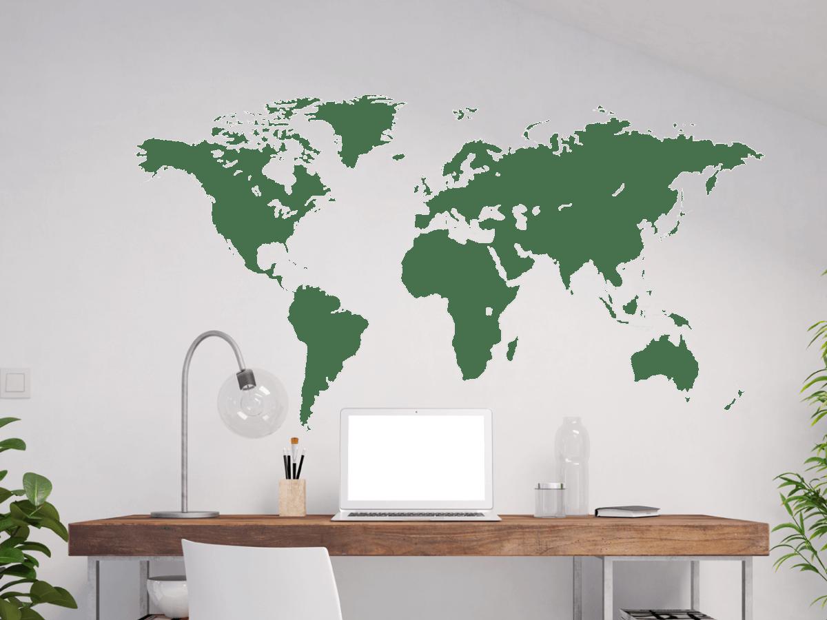 Erstaunlich Wandtattoo Welt Sammlung Von Weltkarte