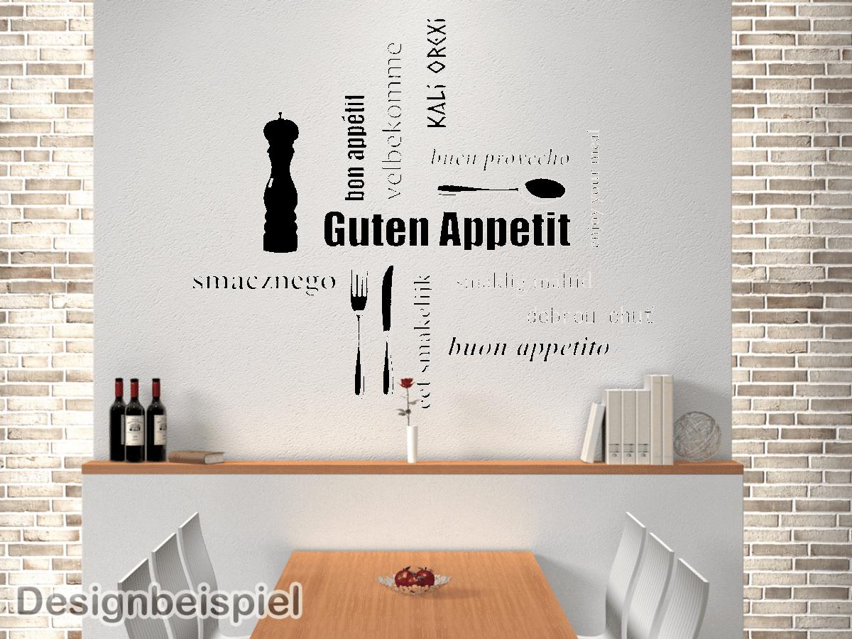 Wandtattoo Guten Appetit | ToCut Werbetechnik Wandtattoo Beschriftung