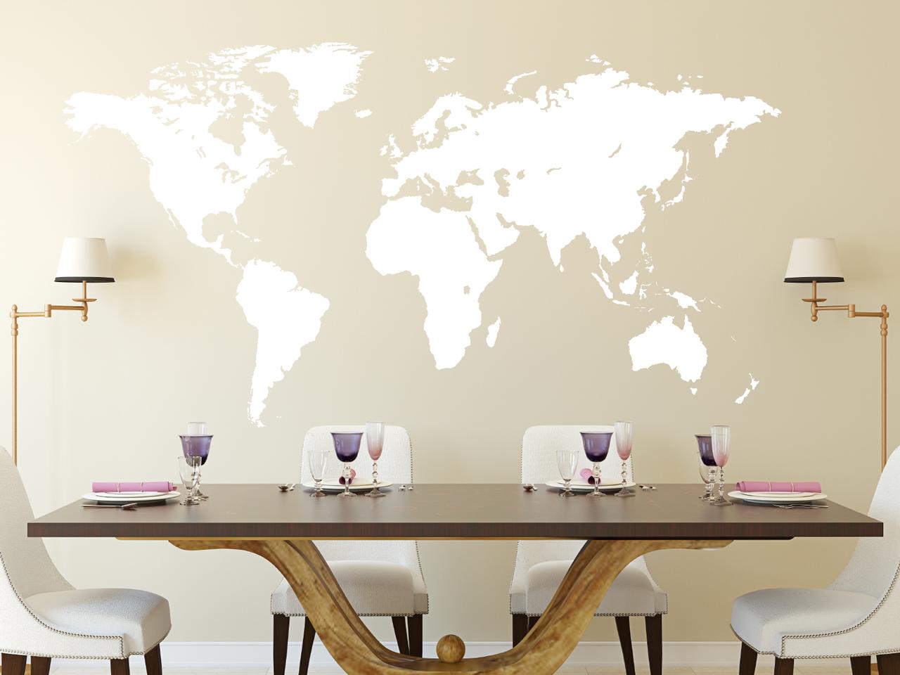 Wandtattoo Weltkarte Erde Tocut Werbetechnik Wandtattoo Beschriftung