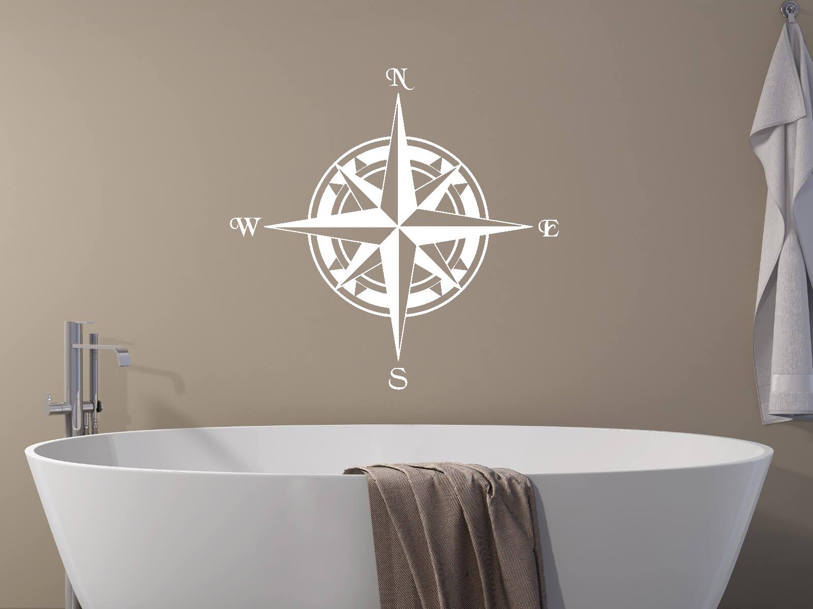 Wandtattoo kompass tocut werbetechnik wandtattoo - Wandtattoo kompass ...