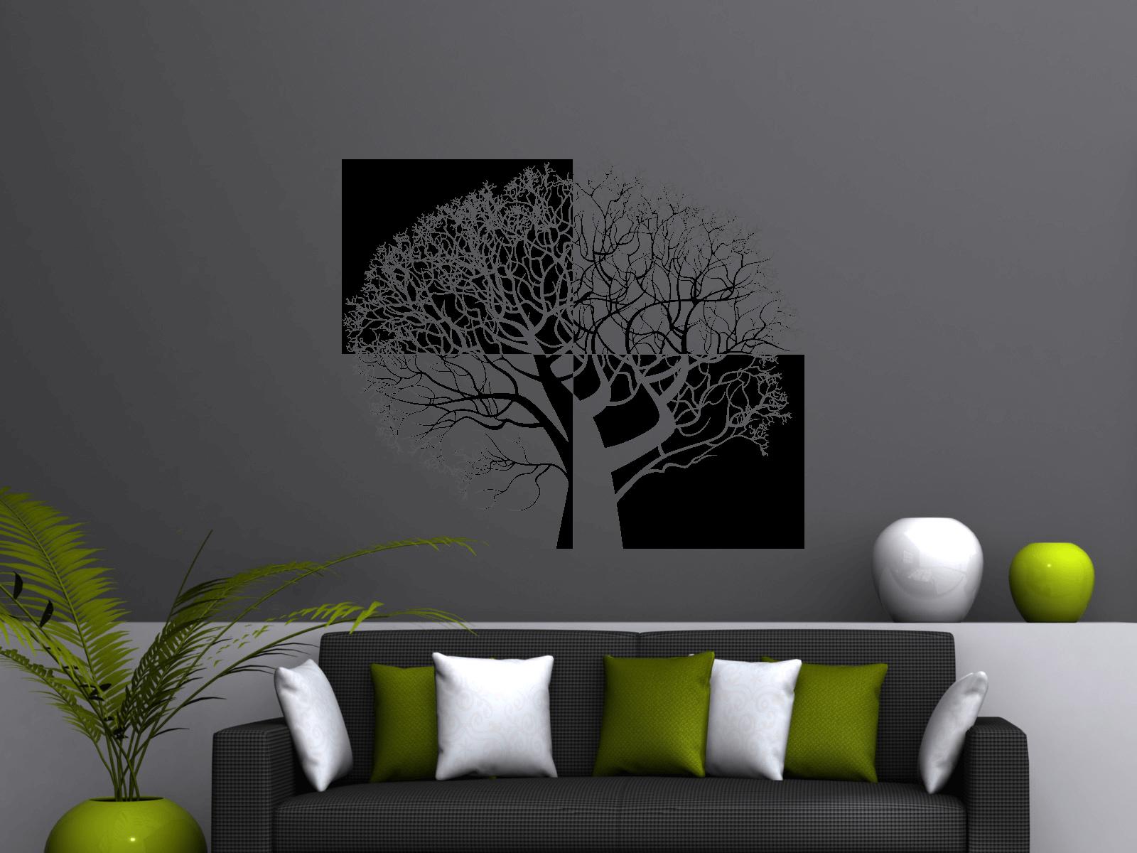 wandtattoo baum xxl 236cm x 200cm vierteilig tocut. Black Bedroom Furniture Sets. Home Design Ideas