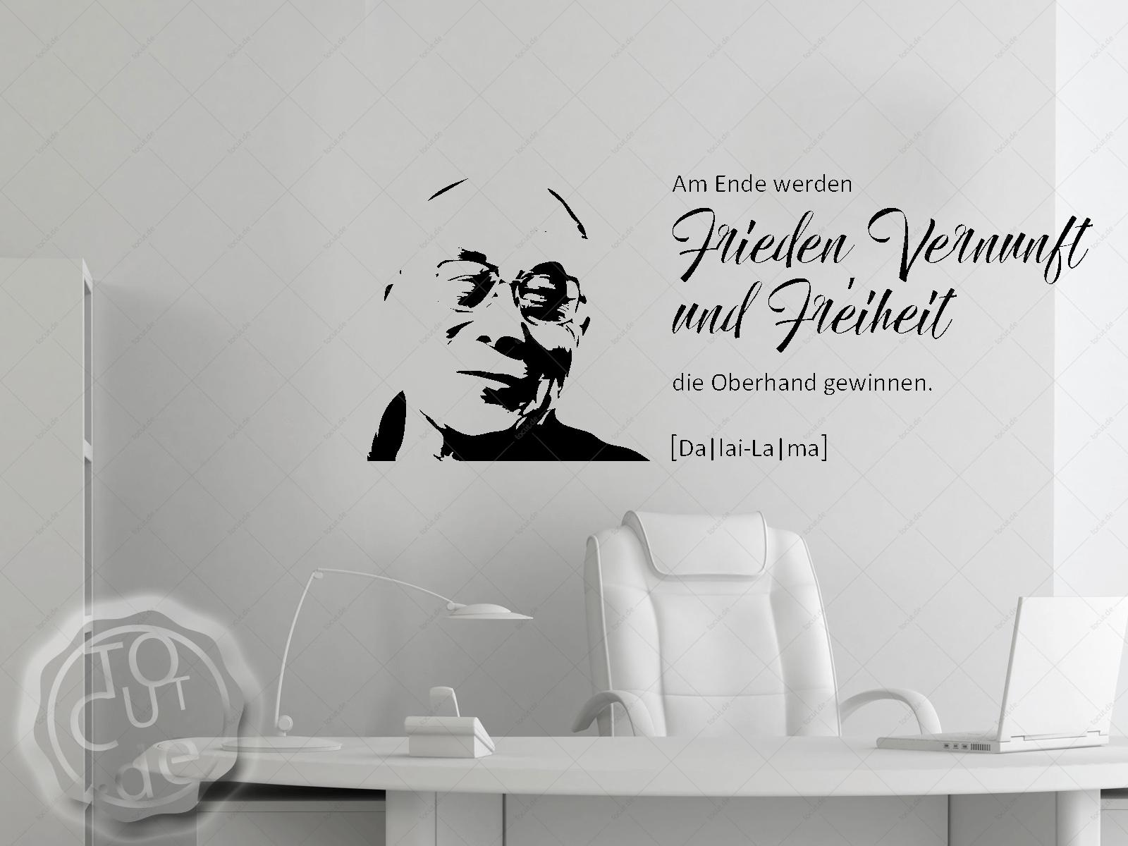 Wandtattoo Frieden Vernunft Freiheit (Daila Lama) | ToCut ...