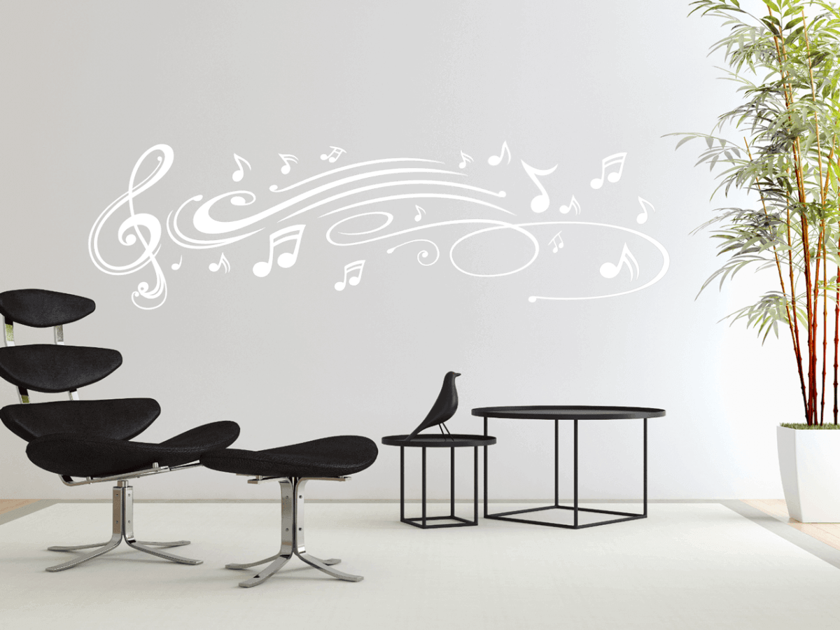 Spacious Wandtattoo Kreise Photo Of Musik-noten