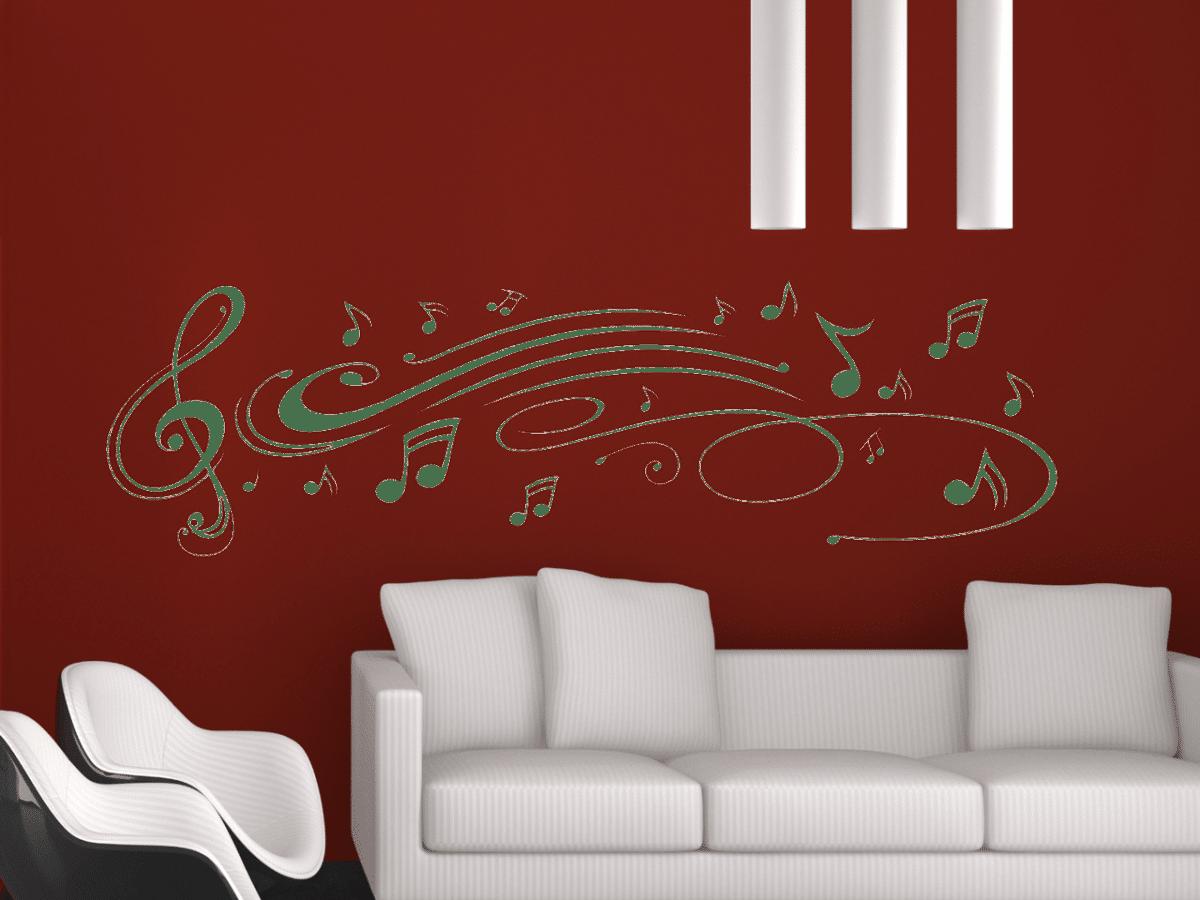 wandtattoo musik notenschl ssel noten tocut werbetechnik. Black Bedroom Furniture Sets. Home Design Ideas