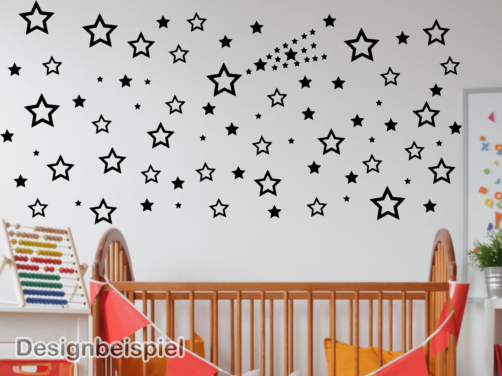 Wandtattoo Sterne Set 85 Stück Kinderzimmer Schlafzimmer  eBay