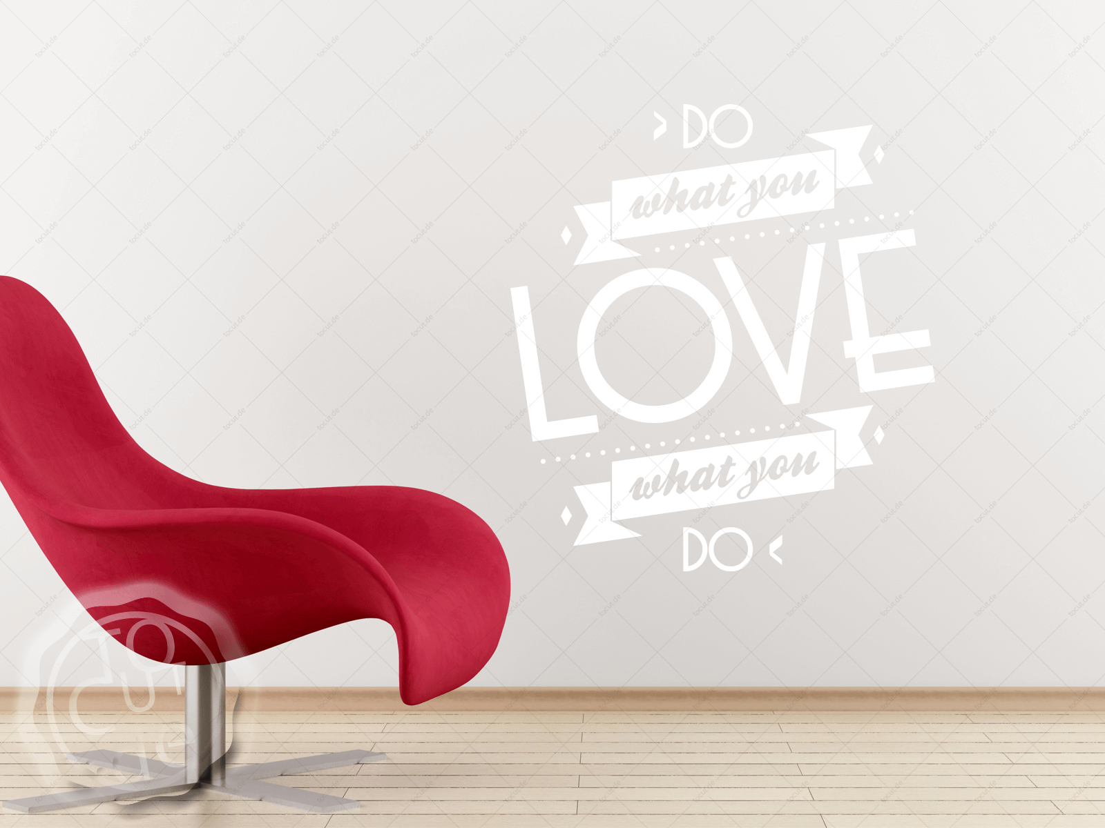 Wandtattoo Do What You Love Wohnzimmer Küche Schlafzimmer ...