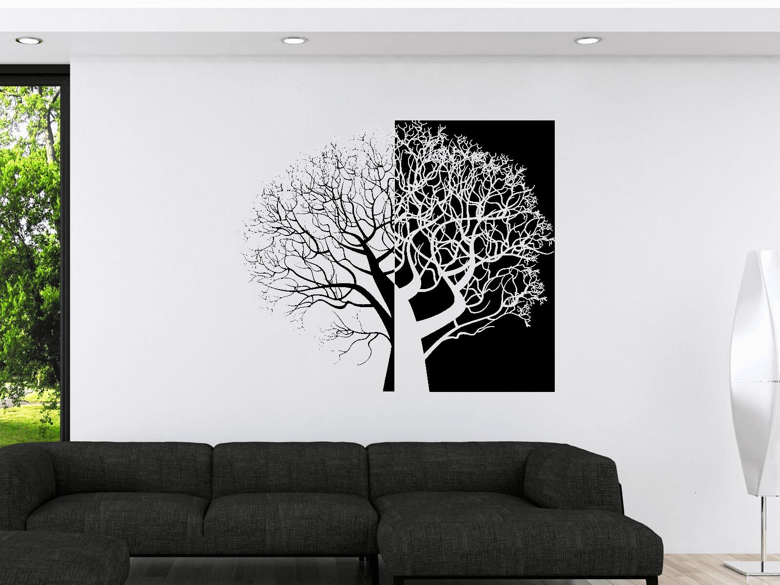 Wandtattoo Baum Xxl 236cm X 200cm Zweiteilig Tocut Werbetechnik
