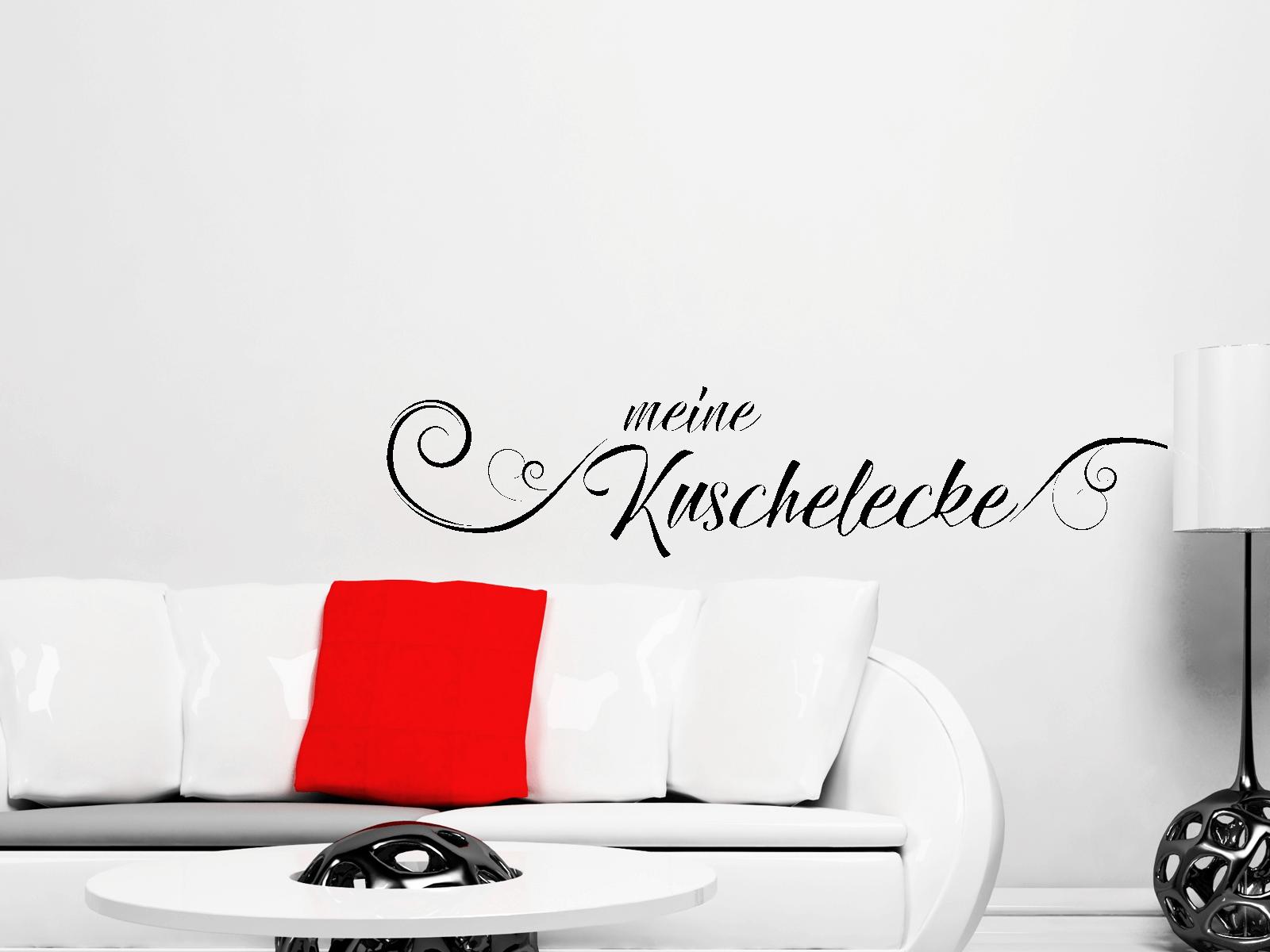 Wandtattoo Meine Kuschelecke Schriftzug Wohnzimmer + Schlafzimmer